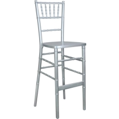 Rental store for Chiavari Cocktail Chair - Silver in Greenville MS